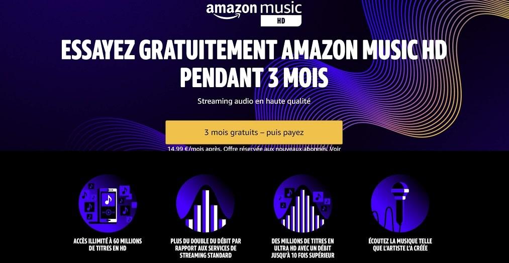 Amazon Music HD : 3 mois gratuits pour essayer le service