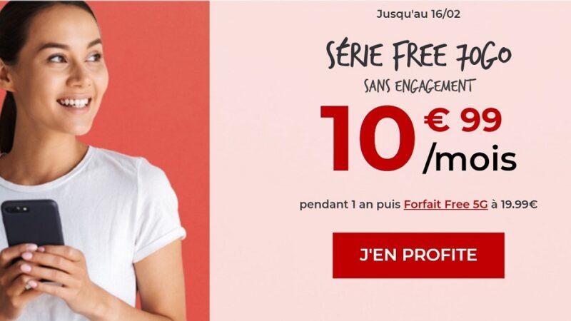 Forfait Free mobile 70 Go pas cher