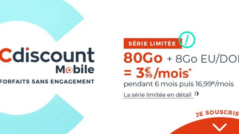 forfait Cdiscount Mobile 80 go