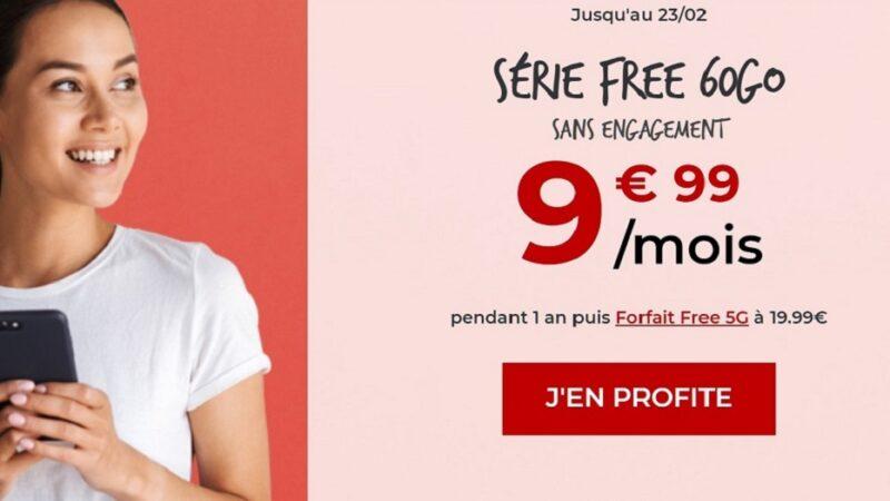 forfait free mobile 60 Go