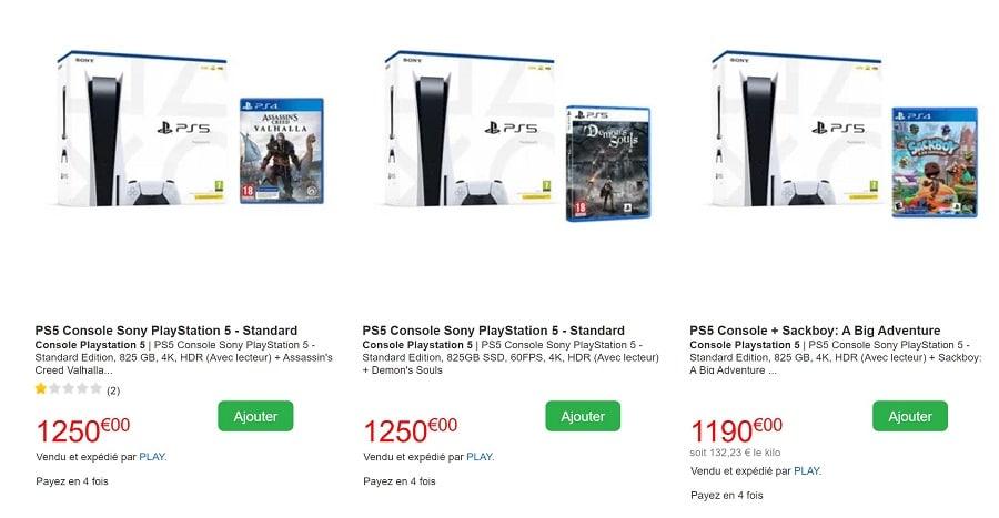 PS5 packs