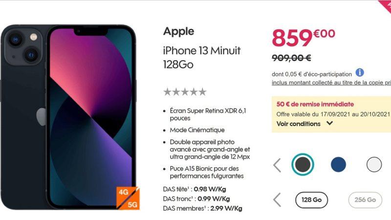 Bon plan sur l'iPhone 13 déjà en promotion chez Sosh et Orange !
